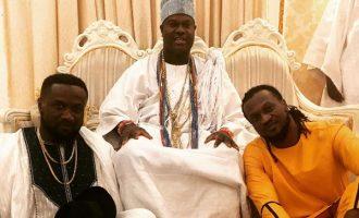 WATCH: Ooni of Ife vibes to Paul Okoye's new song