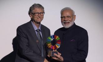 Modi wins Global Goalkeeper Award for realising Mahatma Ghandi's 100-year dream