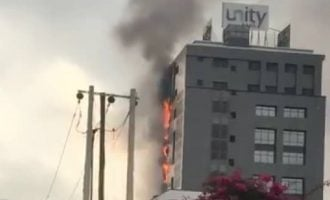 Fire breaks out at Unity Bank head office in Lagos