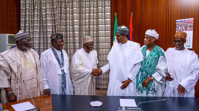 PHOTOS: Buhari hosts his cabinet members during military rule