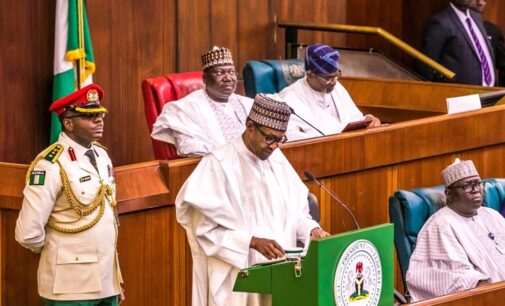 EXTRA: I have cold because I'm working very hard, Buhari jokes