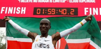 Kenya's Kipchoge becomes first runner to complete marathon under two hours