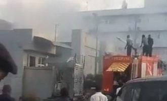 Fire outbreak at FIRS headquarters in Abuja