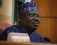 Lawan: We'll work with Buhari to find solution to insecurity