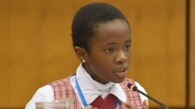 VIDEO: 11-year-old Nigerian speaks on corruption at UN conference