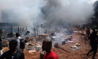 Firefighters: We were attacked while trying to put out Onitsha fire