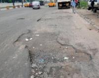 EXTRA: Lagos APC celebrates patching of a section of Oshodi-Apapa road