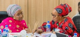 Sadiya Farouq takes charge of SIP, gets briefing from Maryam Uwais
