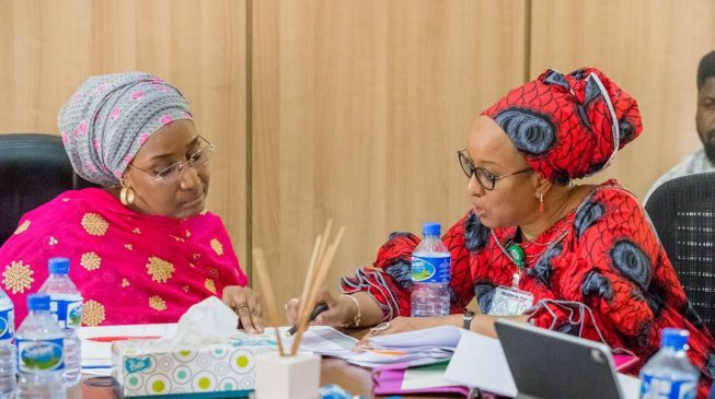 Sadiya Farouq takes charge of SIP, gets briefing from Maryam Uwais
