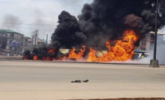 Another petrol-laden tanker explodes in Onitsha