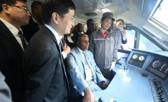 PHOTOS: Amaechi in China to inspect locomotives built for Nigeria