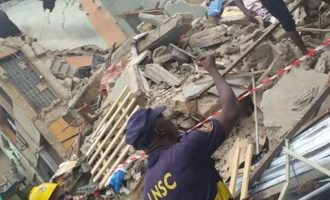Five persons rescued as another building collapses in Lagos