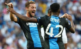 Nigeria's Dennis scores twice as Club Brugge hold Real Madrid in Spain