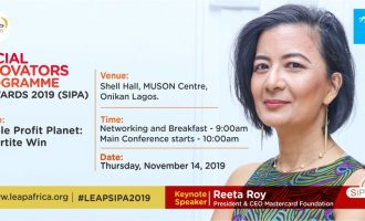 LEAP Africa's social innovators programme to hold Nov 14