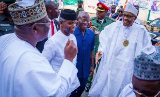 Buhari, Osinbajo at APC NEC meeting in Abuja