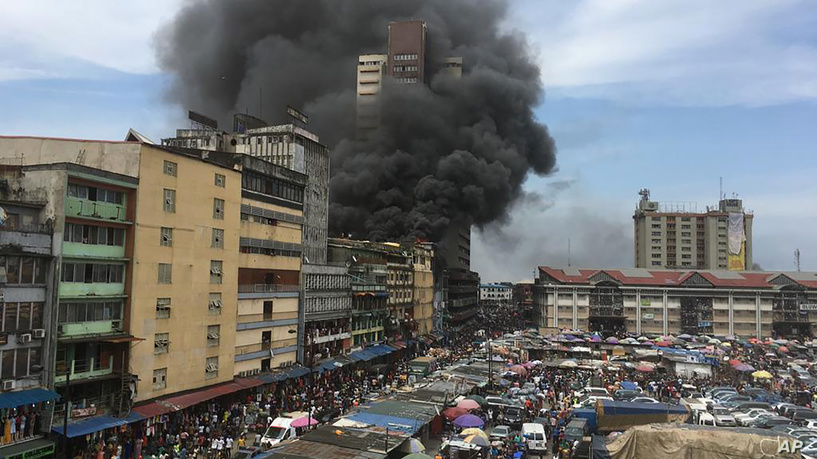 Policeman killed as burning building collapses in Lagos - TheCable