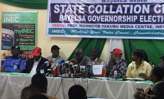 Announcement of election results in Kogi, Bayelsa