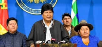 Bolivian president resigns after nationwide protests