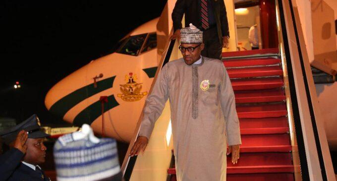 Buhari returns after 'private visit' to London
