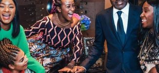 PHOTOS: DJ Cuppy attends Buckingham Palace dinner with family