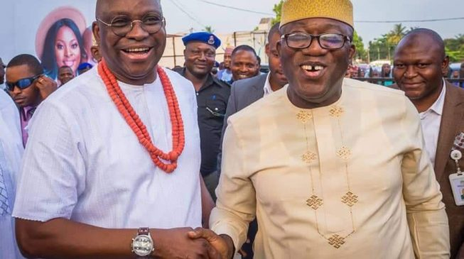 PHOTOS: Fayemi attends wedding of Fayose's son in Lagos