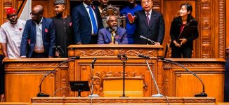 PHOTOS: Gbaja tours Japanese parliament