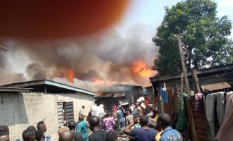 Five buildings affected in fresh fire outbreak in Lagos