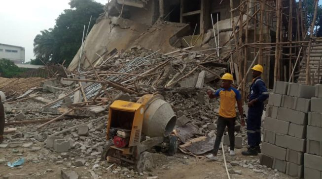 Four rescued as two-storey building collapses in Ikoyi