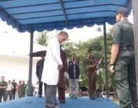 Indonesian flogged for adultery under law he helped create