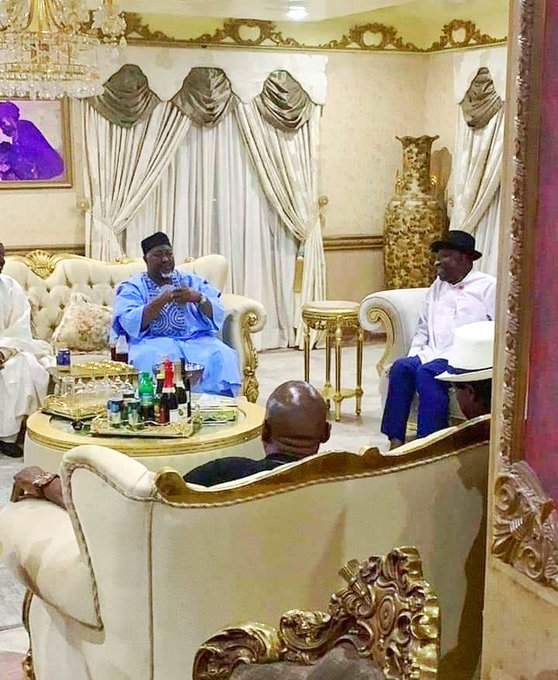 Jonathan and two APC governors in Otuoke