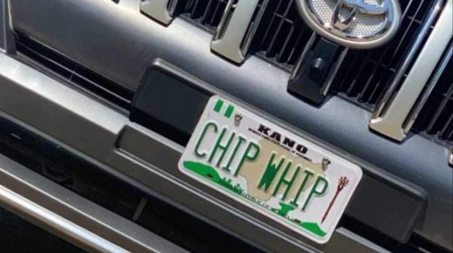 FRSC disowns 'Chip Whip' number plate of Kano lawmaker