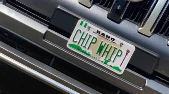 TRENDING: Chip Whip or Chief Whip? Kano official's customised number plate causes ripples