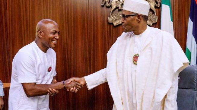 Buhari has a new baby boy, says Oshiomhole on Lyon's victory