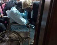 Maina arrives in court in wheelchair