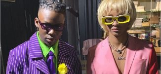 Rema strikes a pose with Jaden Smith for Halloween