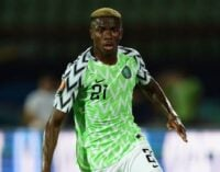 Amunike is responsible for my confidence on pitch, says Osimhen