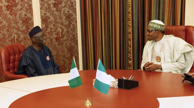 PHOTOS: Buhari hosts Tunde Bakare at Aso Rock