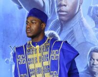 John Boyega dazzles in traditional clothing at 'Star Wars' premiere