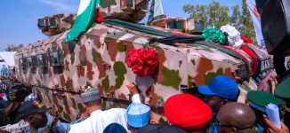 Buhari inaugurates made-in-Nigeria war vehicle