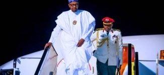 Buhari returns to Abuja after trip to Egypt