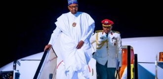 Buhari returns to Abuja after trip to Egypt