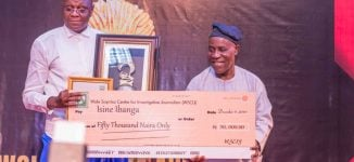 Isine Ibanga wins Wole Soyinka investigative journalist of the year award