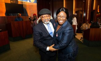Buhari swears in Ngige's wife as permanent secretary
