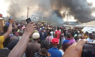 Youths set Akure church on fire over missing baby 'buried at altar'