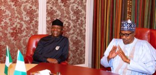 'I'm proud to have selected you as my running mate' — Buhari celebrates Osinbajo at 64