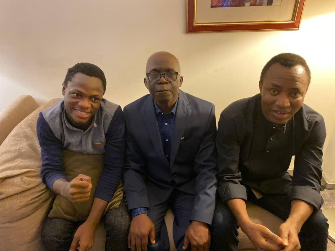 PHOTOS: Falana receives Sowore after release from DSS custody