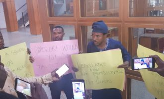 'We've been shortchanged' — legislative aides protest non-payment of salaries