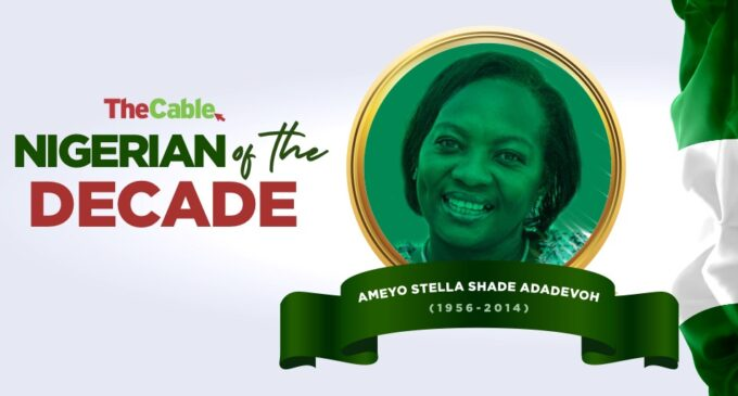 TheCable names Stella Adadevoh as 'Nigerian of the Decade'