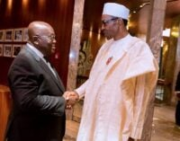 Buhari to Ghanaian president: We closed our borders due to influx of arms, hard drugs