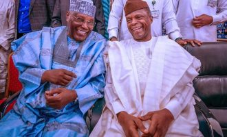 PHOTOS: 'Political smiles' as Ribadu reunites Atiku, Tinubu, Osinbajo